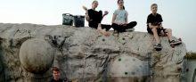 Die Jugendgruppe schraubt am Brakel-Rock